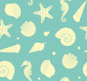 Seamless background with marine life Royalty Free Stock Photography