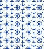 Seamless background with maritime symbols Stock Photography