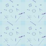 Seamless background of mathematic symbols Stock Image