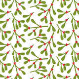 Seamless background with Mistletoe design. Suitable for wrapping, wallpaper, decoration background Stock Photo