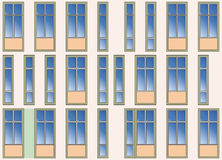 Seamless background of modern building facade Stock Photography