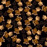 Seamless background with monkeys Royalty Free Stock Photos