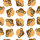 Seamless background with monkeys Royalty Free Stock Images