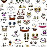 Monster Faces, Seamless Stock Photo