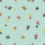 Seamless background: mosquito Royalty Free Stock Image