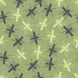Seamless background: mosquito Stock Photography