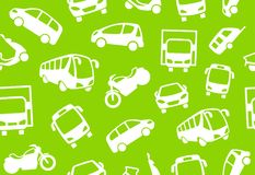 Seamless background of motor transport Stock Photography