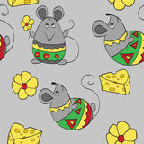 Seamless background with mouses. Seamless background with decorative mouses Stock Photos