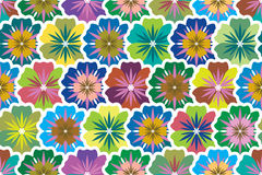 Seamless background from multi-colored flowers sim Royalty Free Stock Image