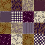 Seamless background of multicolor patchwork Stock Photography