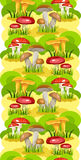 Seamless background Mushroom Glade Royalty Free Stock Photography