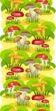 Seamless Background Mushroom Glade Royalty Free Stock Photography
