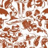 Seamless background mushrooms Stock Image