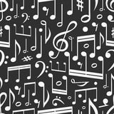 Seamless background. Of music notes Stock Photo