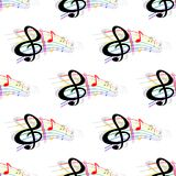 Seamless background music pattern Royalty Free Stock Photography