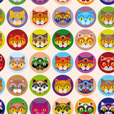 Seamless background with muzzle of cats.  Royalty Free Stock Photography