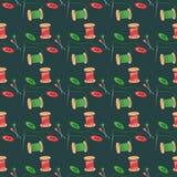 Seamless background with needlework Stock Image