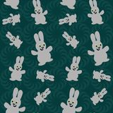 Seamless background with nice hares Royalty Free Stock Images