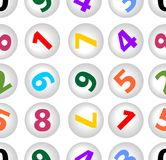 Seamless background with numbers in circle Royalty Free Stock Photo