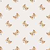 A Seamless background nursery cute lovely cat face Royalty Free Stock Images