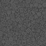 Seamless background of objects royalty free illustration