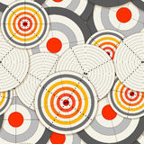Seamless Background Of Targets Royalty Free Stock Image