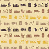 Seamless background with oil and petroleum theme Royalty Free Stock Photography