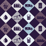 Seamless background with oil and petroleum theme Royalty Free Stock Images