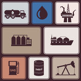 Seamless background with oil and petroleum theme Royalty Free Stock Photo