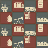 Seamless background with oil and petroleum theme Royalty Free Stock Image