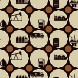 Seamless background with oil and petroleum theme Stock Photo