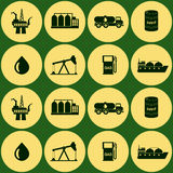 Seamless background with oil and petroleum theme Stock Image