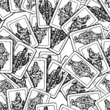 Seamless background of the old playing cards Stock Photos