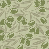 Seamless background with olives. Seamless background with green olives Stock Photography