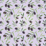 Seamless background with olives Stock Image