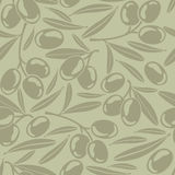 Seamless background with olives Royalty Free Stock Images