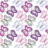 seamless background with openwork butterflies Royalty Free Stock Images