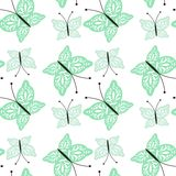Seamless background with openwork butterflies Royalty Free Stock Image