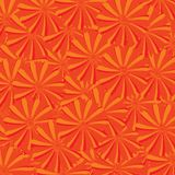 Seamless background with orange floral motives Stock Photos