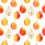 Seamless background with orange fresh pears Stock Photo