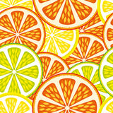 Seamless Background - Orange and Lime Royalty Free Stock Photo