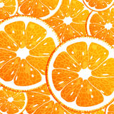 Seamless background with orange. Vector illustration  of a seamless background with orange Stock Image