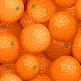 Seamless background with oranges. Vector illustration of seamless background with ripe oranges Stock Images