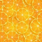 Seamless background of oranges Royalty Free Stock Image