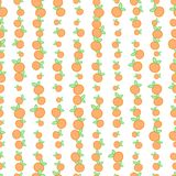 Seamless background with oranges. Vector illustration. Seamless pattern with oranges in simple flat style. Endless wrap background Stock Photography
