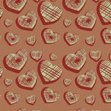 Seamless background with original hearts Royalty Free Stock Photos