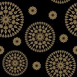 Seamless background with ornament. On black Royalty Free Stock Images