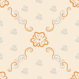 Seamless background from ornate ornament stock illustration