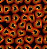 Seamless background with outline heart pattern Stock Photo