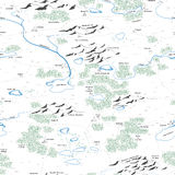 Seamless background of painted map. Royalty Free Stock Image